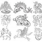 Постер, плакат: Heraldic monsters vol VII