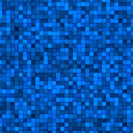 Photo for Blue mosaic tiles. Abstract colorful background - Royalty Free Image