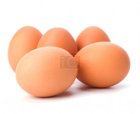 Photo for Eggs isolated on white background close up - Royalty Free Image
