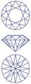 Diamond vector graphic scheme