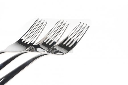 Photo for Forks isolated over white background - Royalty Free Image