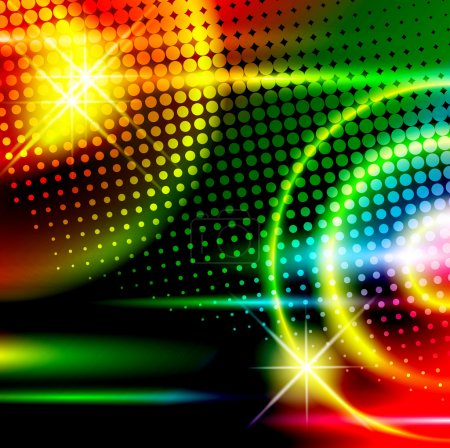 Illustration for Abstract multicolored disco background - Royalty Free Image