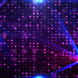 Purple disco lights background with colorful lensf...