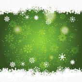 Green christmas background with space for text