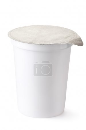 Plastic container for dairy foods with foil lid