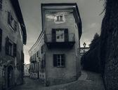 Street of Saluzzo. Northern Italy.