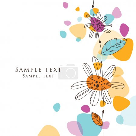 Greeting floral card with copy space