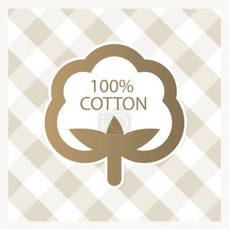 Illustration for Cotton label - Royalty Free Image