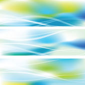 Set of abstract web banners