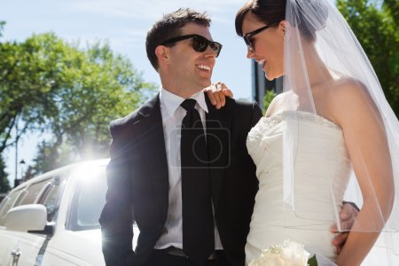Wedding Couple with Sunglasses