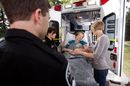 Senior Woman with Paramedics
