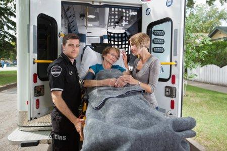 Senior Woman Ambulance