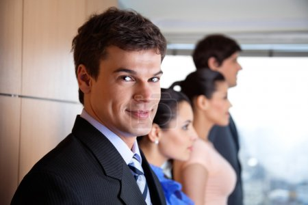 Handsome Male Executive Smiling