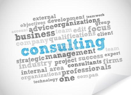 Illustration pour Fond de vector Consulting tag cloud - image libre de droit