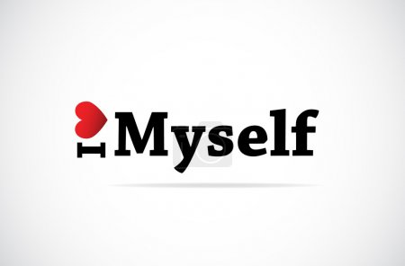 Illustration for I Love Myself vector background - Royalty Free Image