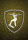 Skateboarding badge