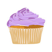 Vector yummy cupcake on white background