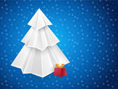 Blue Christmas vector art greeting card