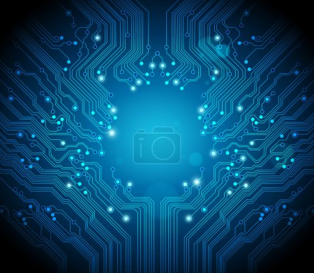 Circuit board vector background - technology conce...