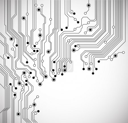Photo for Circuit board background texture - vector - isolated on white - Royalty Free Image
