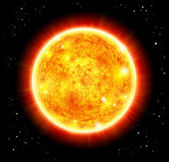 Sun in a space background