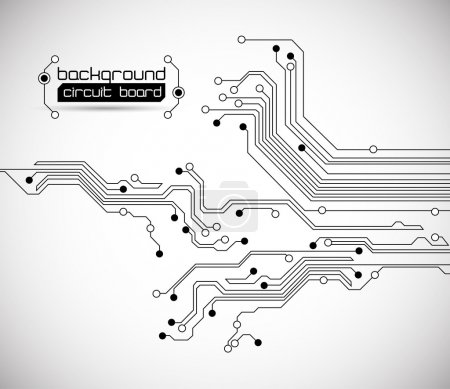 Illustration for Circuit board background texture - vector - isolated on white - Royalty Free Image
