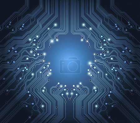 Technology vector abstract blue background