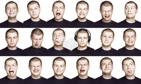 Photo for Emotion face of a man - fine-art portrait - Royalty Free Image
