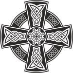 Vector draw celtic cross...