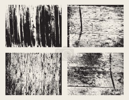 Wooden grunge texture set