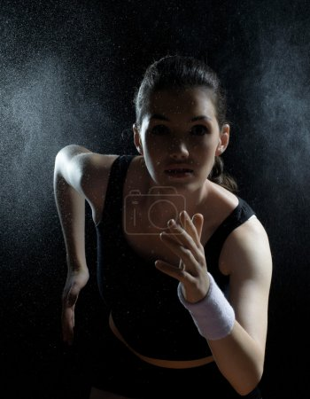 Photo for Girl in sport on the night - Royalty Free Image
