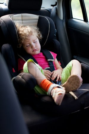 Child in an automobile armchair