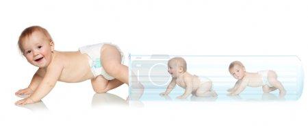 Photo pour Bébé sort du tube. Insémination artificielle. Fertilisation in vitro - image libre de droit
