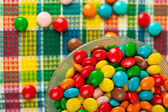 Colored chocolate candy