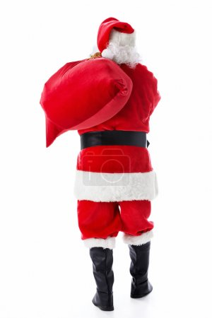 Photo for Santa Claus with a bag of isolated - Royalty Free Image