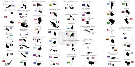 Countries of North and South America