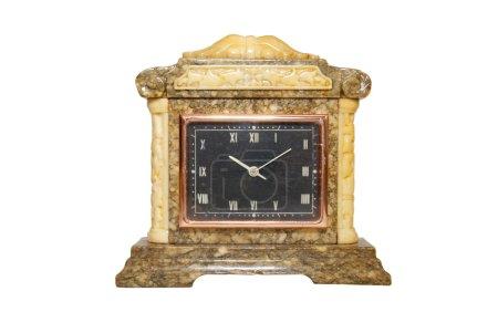 Photo pour Vieille horloge de table isolée sur blanc . - image libre de droit