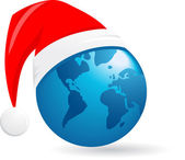 World Christmas ball vector background