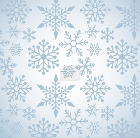 Photo for Christmas background with snowflakes pattern, vector - Royalty Free Image