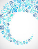 Christmas blue background with snowflakes pattern