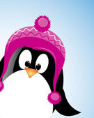 Vector background with pinguin