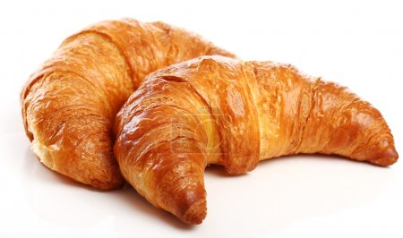 Photo for Fresh and tasty croissant over white background - Royalty Free Image