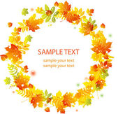 Autumn leaves background vector banner