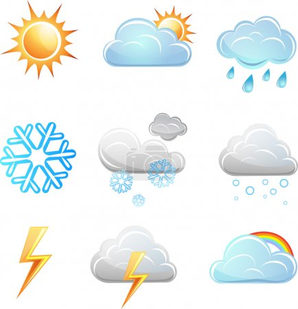 Illustration for Weather icon vector set. elements for design - Royalty Free Image