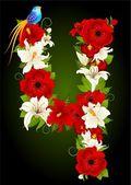 Illustration of floral four symbol