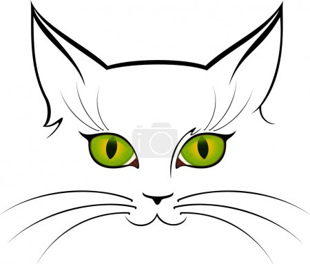 Vector image of cat eyes