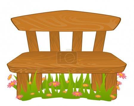Cartoon bench.