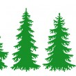 Silhouettes of fir-trees in vector format (eps8)...