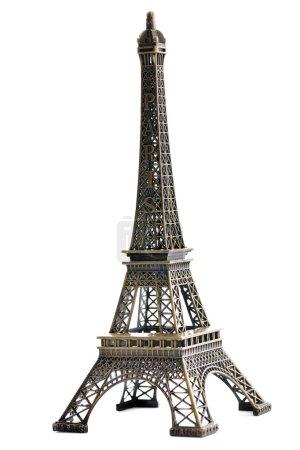 Paris eiffel tower model isolated