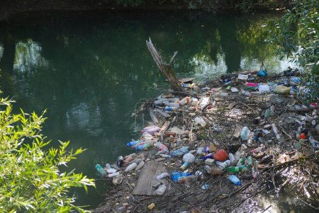 Pollution in river